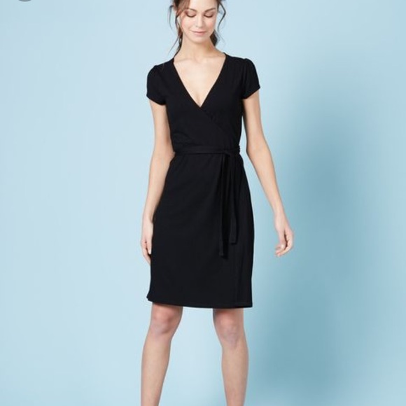 2e292efb6d9 Boden Dresses   Skirts - Boden black jersey summer wrap dress